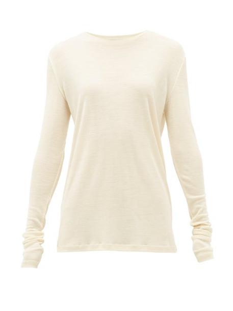 Raey - Long-sleeve Wool-jersey T-shirt - Womens - Ivory