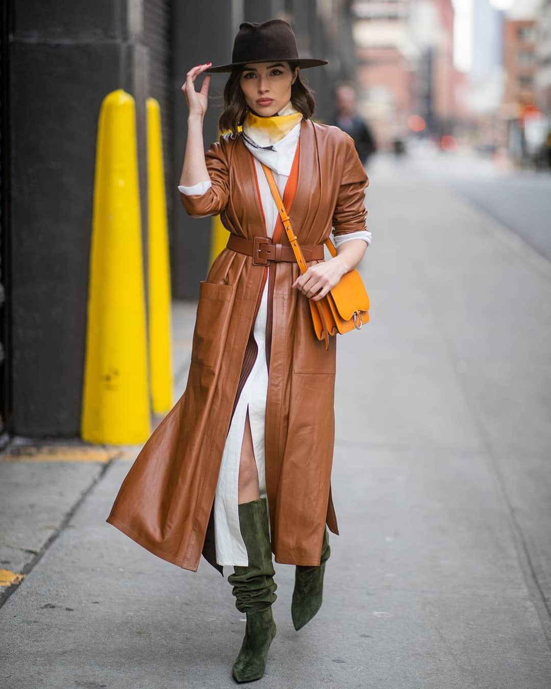 shoes knee high boots suede boots heel boots brown coat leather long coat white dress slit dress long cardigan bag scarf hat