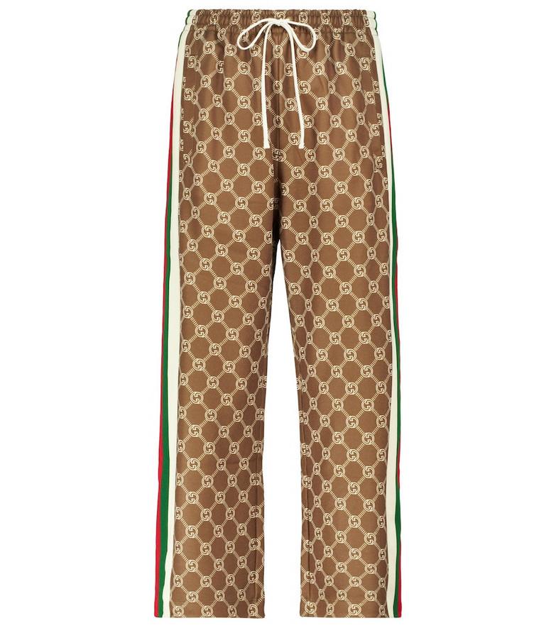 Gucci Interlocking G cropped sweatpants in neutrals
