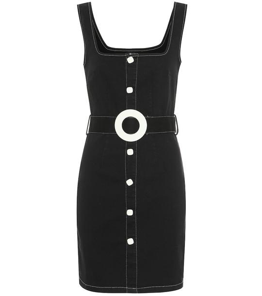 Solid & Striped Stretch-cotton denim minidress in black