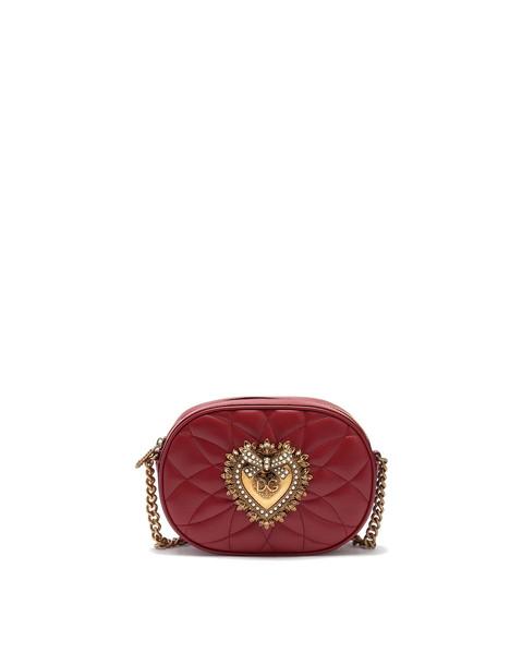 Dolce & Gabbana Camera Bag Devotion Leather Shoulder Bag in red