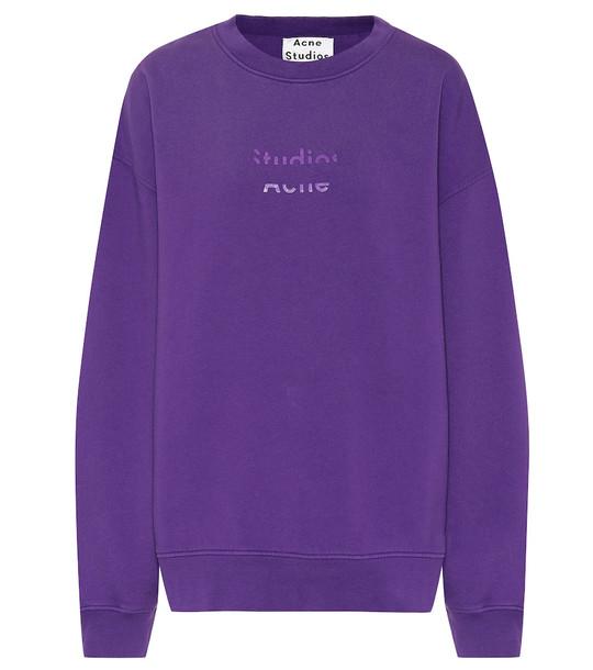 Acne Studios Cotton sweatshirt in purple