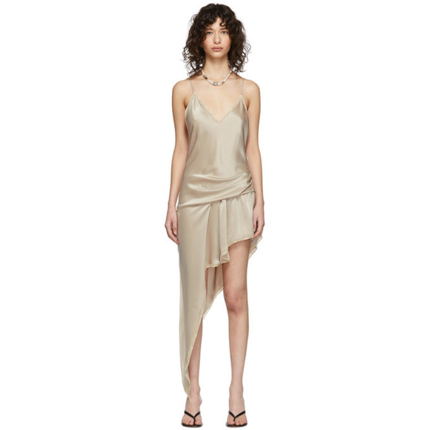 Alexander Wang Beige Cami Lace Romper-Style Dress