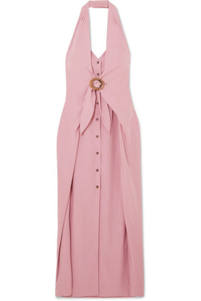 Nanushka - Liya Halterneck Lyocell-blend Dress - Pink