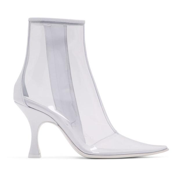 MM6 Maison Margiela White & Transparent PVC Ankle Boots
