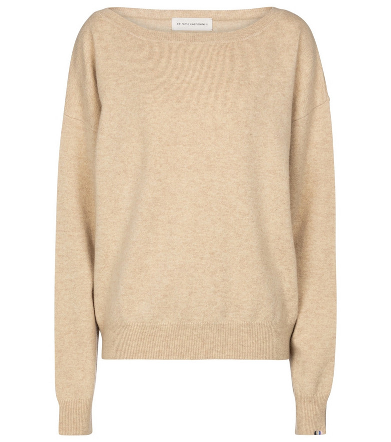 Extreme Cashmere N° 39 Should cashmere-blend sweater in beige
