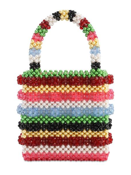 SHRIMPS Antonia Multicolor Beaded Bag