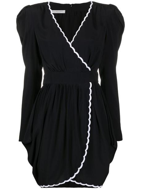 Philosophy Di Lorenzo Serafini scalloped hem wrap dress in black