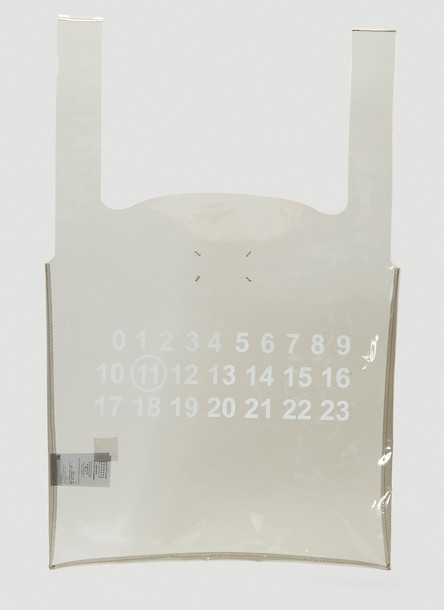 Maison Margiela Transparent Tote Bag in Grey size One Size
