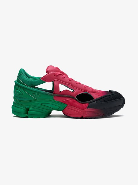 Adidas By Raf Simons black, pink and green RS replicant ozweego sneakers