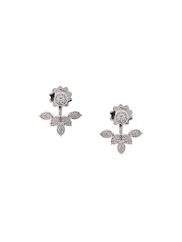 Yeprem 18kt white gold diamond stud and earring jacket in silver