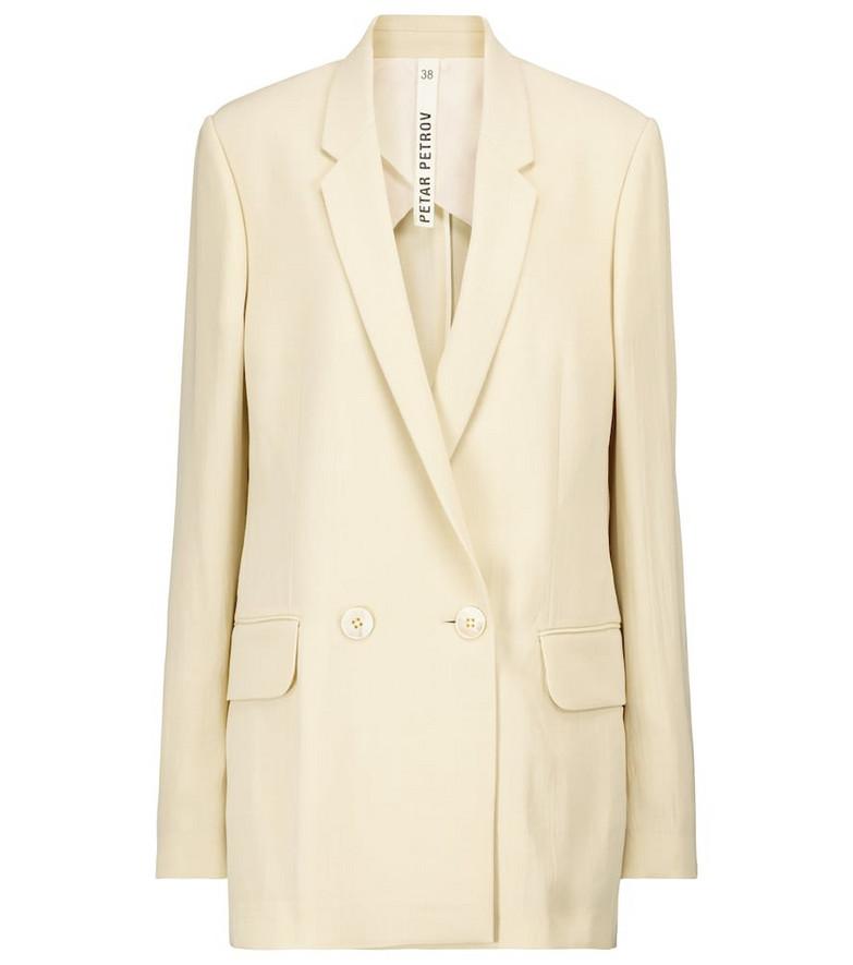 Petar Petrov Ivy wool-blend blazer in beige