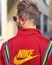 jacket,red jacket
