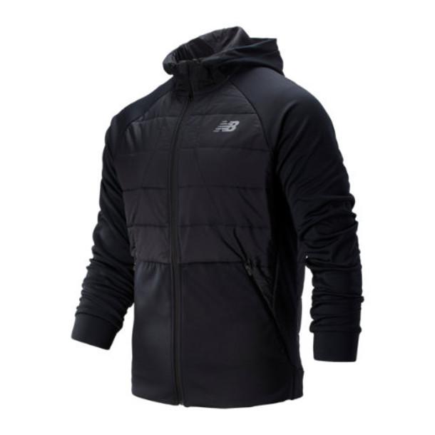 New Balance 93025 Men's Tenacity Hybrid Puffer Jacket - Black (MJ93025BK)