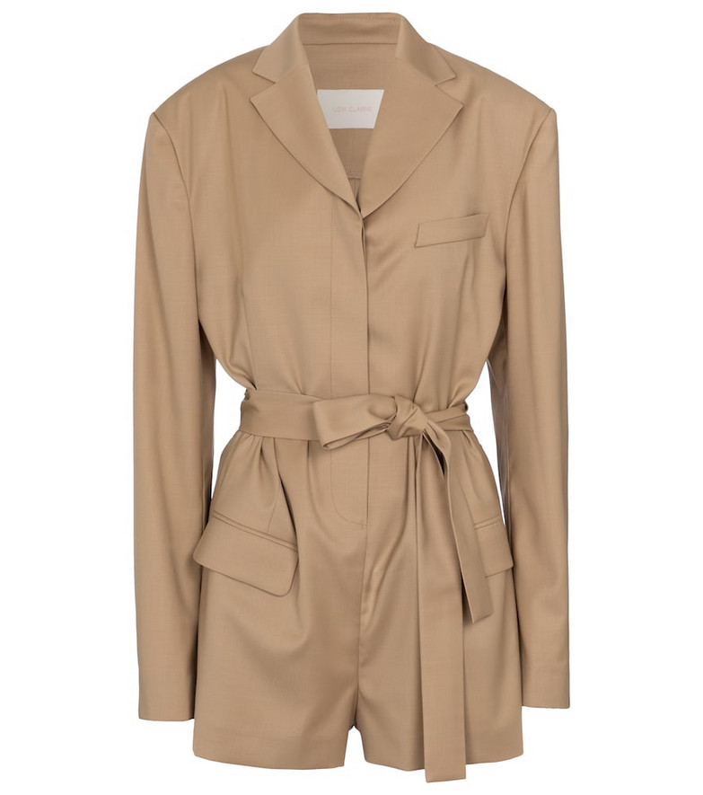 Low classic Belted playsuit in beige