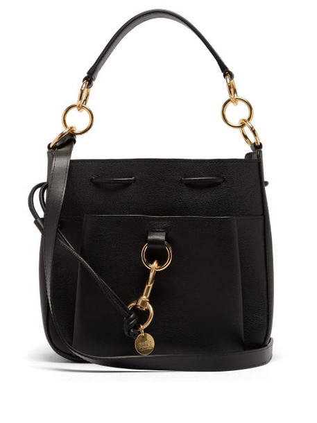 See By Chloé See By Chloé - Tony Medium Leather Bucket Bag - Womens - Black
