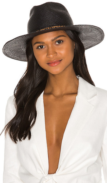 Hat Attack Panama XL Hat in Black