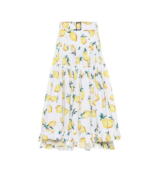 Alexandra Miro Exclusive to Mytheresa – Penelope printed cotton maxi skirt in yellow