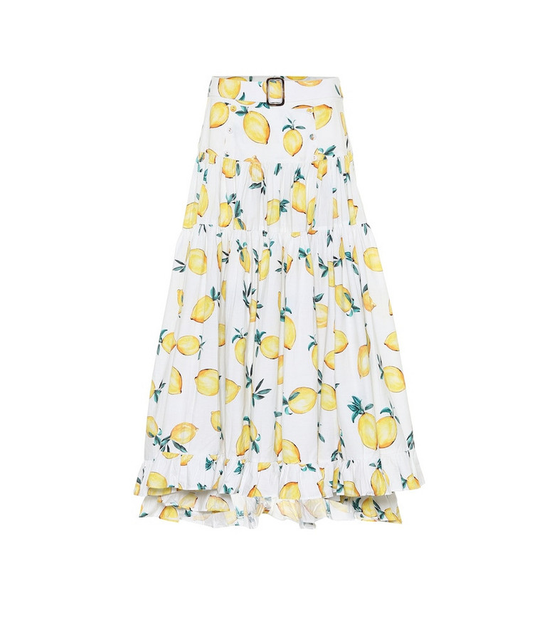 Alexandra Miro Exclusive to Mytheresa – Penelope printed cotton maxi skirt in yellow