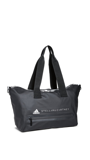 adidas by Stella McCartney Small Studio Bag in black / white