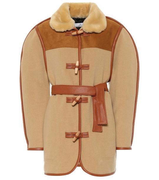 Philosophy Di Lorenzo Serafini Wool-blend duffle jacket in brown