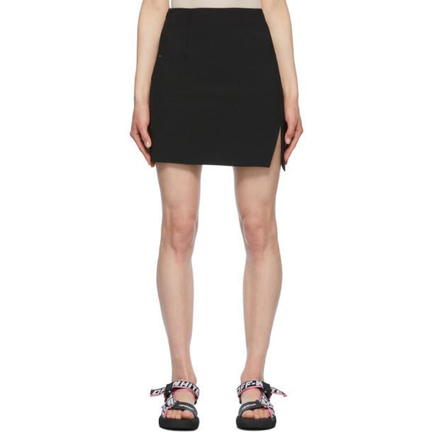 Off-White Black Formal Side Split Miniskirt