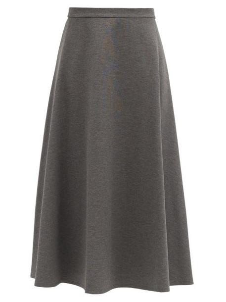 Max Mara - Ostile Skirt - Womens - Dark Grey