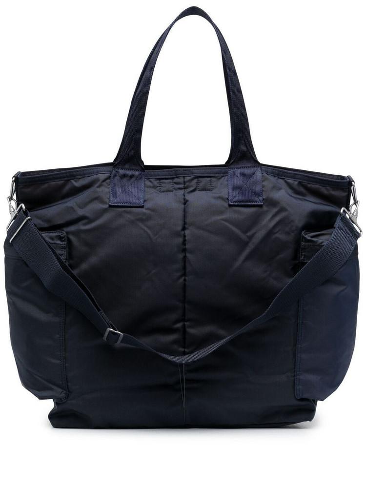 Porter-Yoshida & Co. Porter-Yoshida & Co. logo patch tote bag - Blue