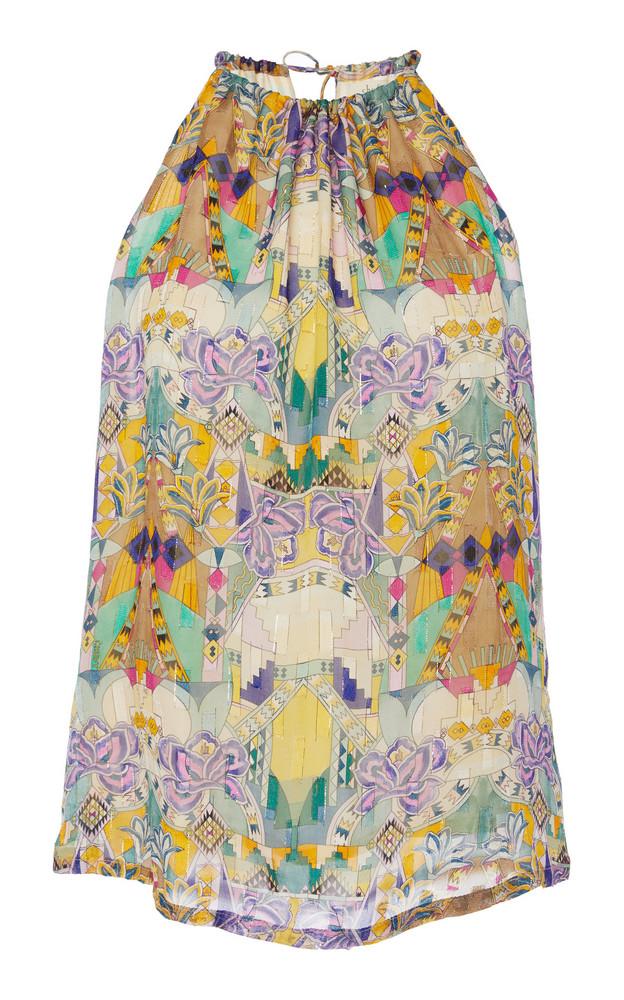 Chufy Inka Printed Broadcloth Halterneck Top in print