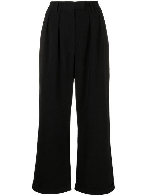 Katharine Hamnett London Camilla organic cotton moleskin trousers in black