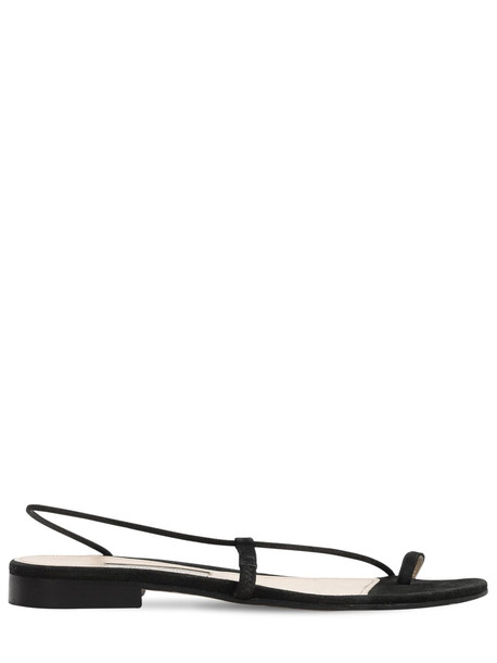 EMME PARSONS 10mm Susan Leather Thong Slides in black