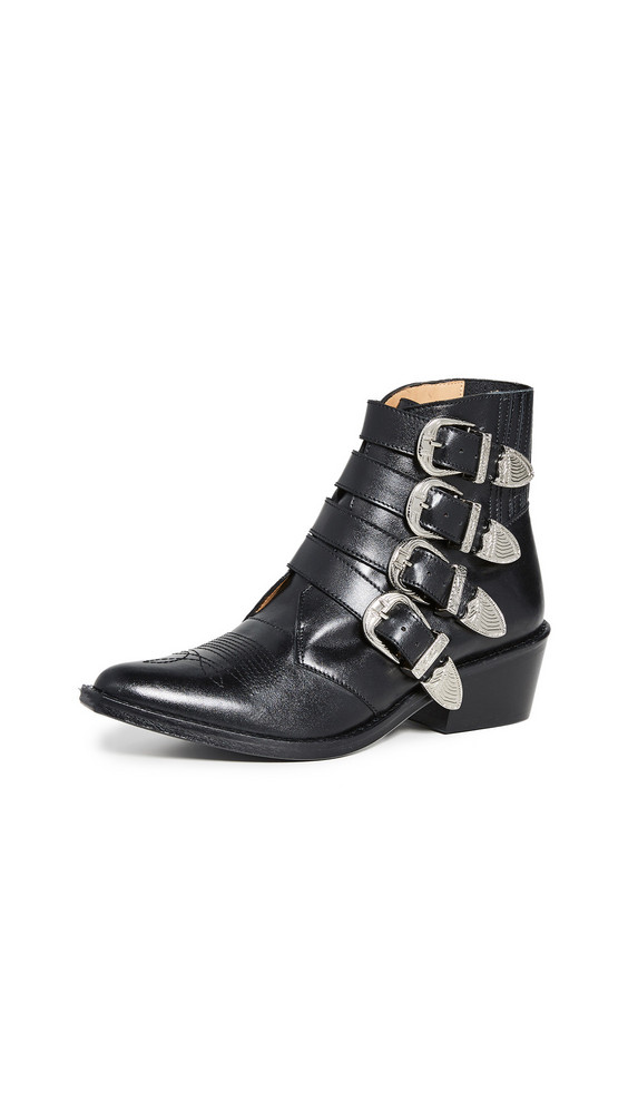 Toga Pulla Buckled Booties in black