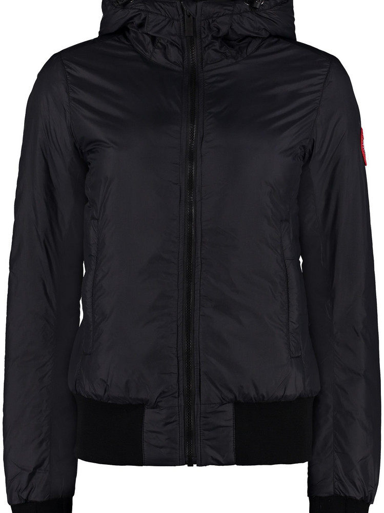 Canada Goose Dore Hooded Ultra-light Down Jacket in black