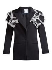 blazer,lace,cotton,black,jacket