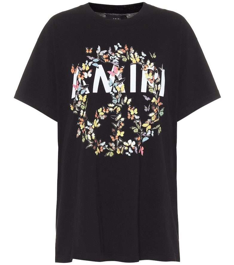 Amiri Peace Butterfly cotton T-shirt in black