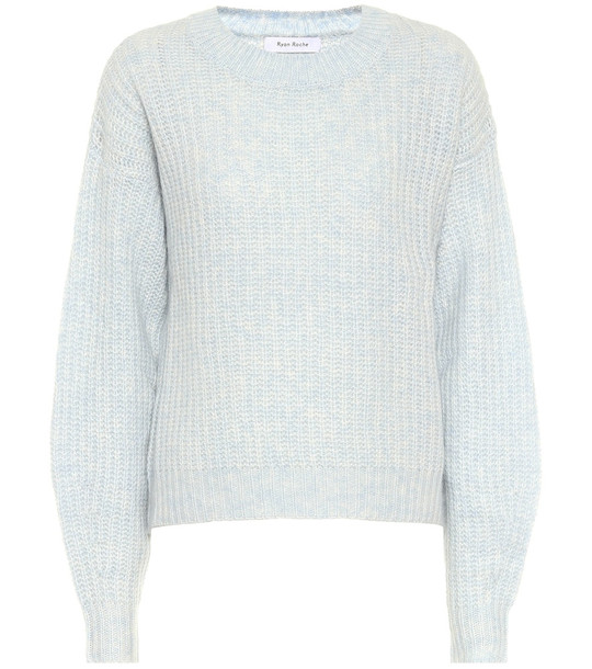 Ryan Roche Cashmere and silk sweater in blue