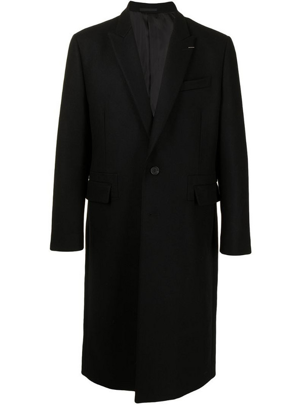 SONGZIO signature Melton sing-breasted coat in black