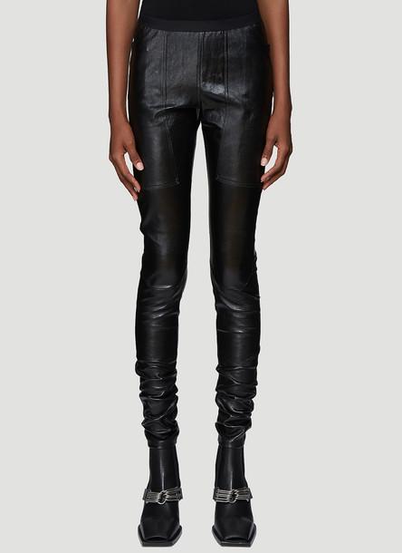 Rick Owens Leather Leggings in Black size IT - 38