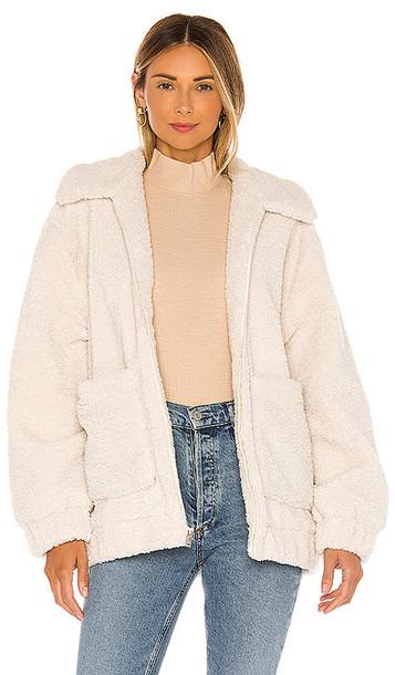 UGG Jackeline Teddy Bear Jacket in Cream