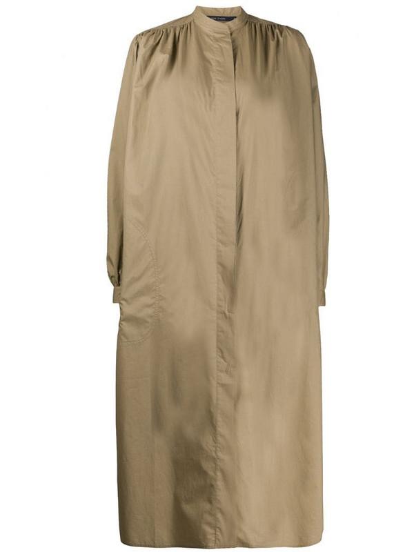 Sofie D'hoore band collar poplin shirt dress in brown