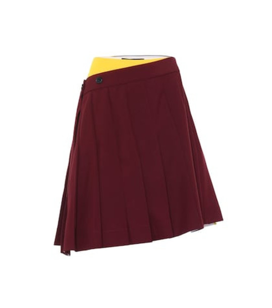 Calvin Klein 205W39NYC Pleated skirt in red