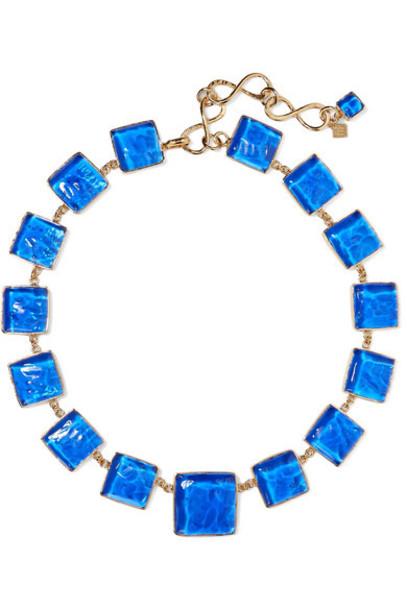 Loulou de la Falaise - Gold-plated And Glass Necklace