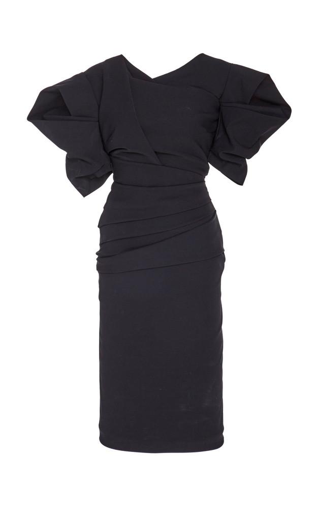 Preen by Thornton Bregazzi Onnora Draped Dress in black