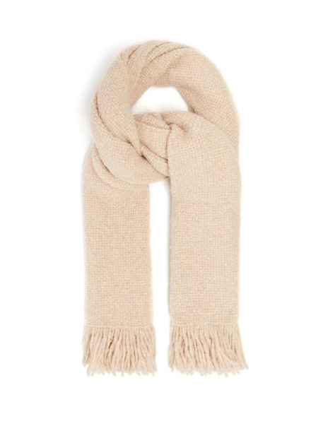 Lauren Manoogian - Fringed Basket-weave Scarf - Womens - Beige