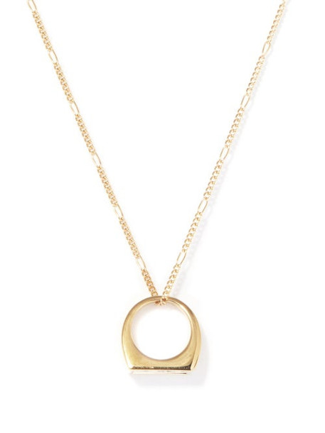 A.P.C. A.P.C. - X Suzanne Koller Ring-pendant Necklace - Womens - Gold