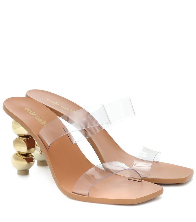 Cult Gaia Meta sandals in gold