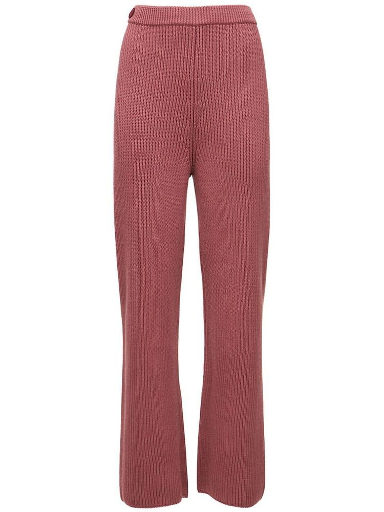 SAKS POTTS Maise Wool Knit Pants in pink
