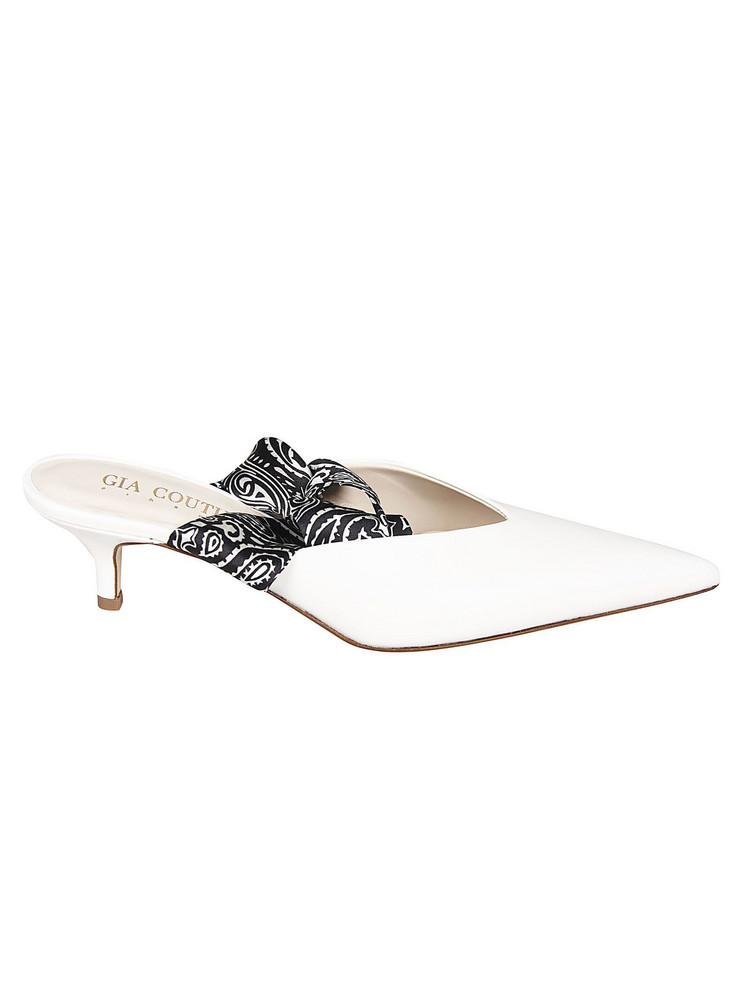 Gia Couture Bandana Girl Sandals in white