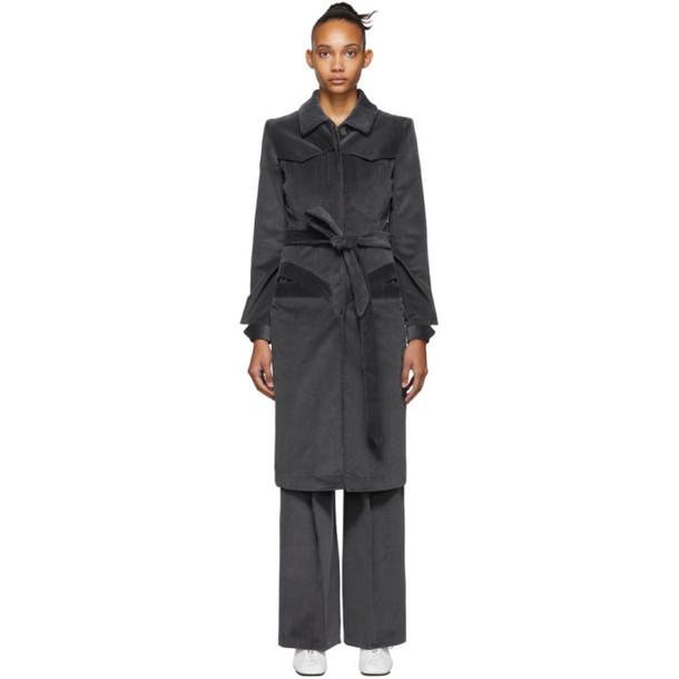 Situationist SSENSE Exclusive Blue Corduroy Coat