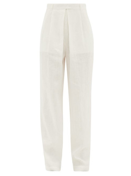 Mara Hoffman - Eldora High-rise Hemp Wide-leg Trousers - Womens - White
